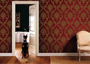 entfernbare Wandverkleidungen 0.53*10M Wohnzimmer PVCs mit Rot und Goldfarbe, ISO SGS