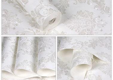 Mit Blumen keine Kleber-weiße selbstklebende Tapeten-entfernbaren Wandverkleidungen