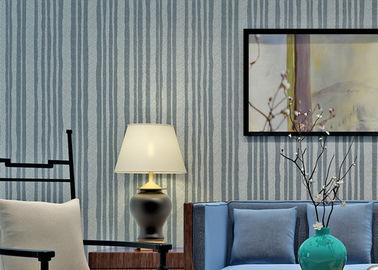 Moderner Art-Glimmer-Stein-Tapeten-Hitze-Beweis mit Natur-Material, Streifen-Muster