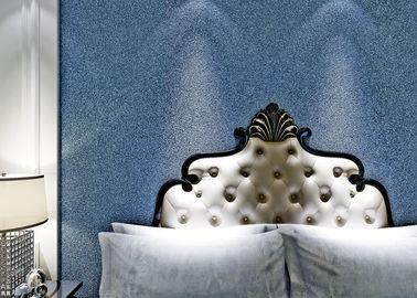 Blaue moderne entfernbare Wallcovering-Wohnzimmer-Sandstein-Glimmer-Tapete