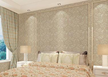Zeitgenössische Schlafzimmertapete der Blumendekoration, nichtgewebte moderne Tapete für Schlafzimmer