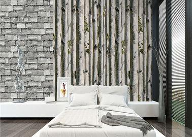Graue Tapete des Suppengrünausgangs 3d/keine giftige Wohnzimmer-Tapeten-Wärmedämmung