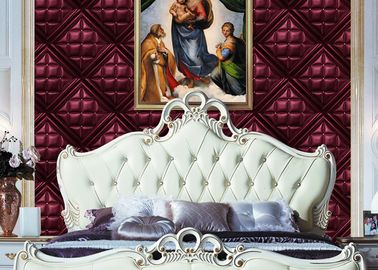 Concise European Style Living Room Wallpaper For Background , OEM Service