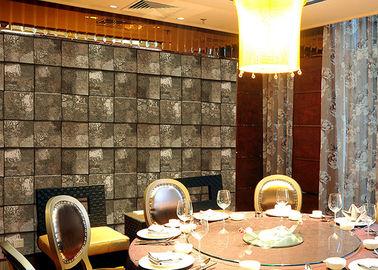Prägeartige Steineffekt-zeitgenössische Schlafzimmer-Tapete für Fernsehwand-Hintergrund