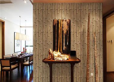 Natur Bambus-3d steuern Tapete, Effekt-Tapete des Wohnzimmer-3d für Wände automatisch an