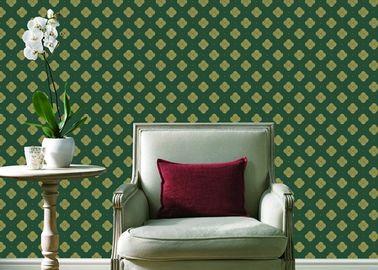 Prägeartige zeitgenössische Wandverkleidungen PVCs, vier Blatt-Hauptblumentapete für Wände
