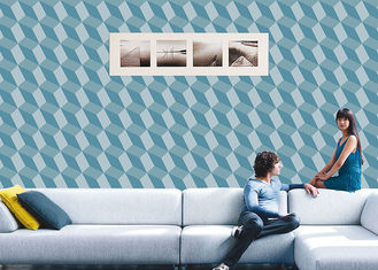 China geometrische zeitgenössische Wandverkleidung des Effekt-3D, 0.53*10M/Rolle, Nicht-geklebt fournisseur