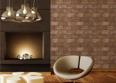 Ziegelstein 3D, der natürliche Art-moderne entfernbare Tapete, 0.53*10M PVC-Material druckt