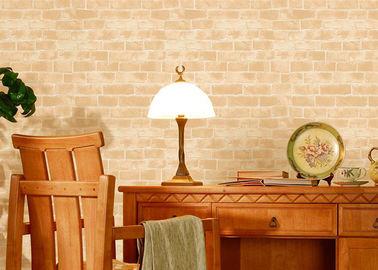 Korn-Muster des chinesische Art-prägte umweltfreundliches Ziegelstein-3D Wallcovering, PVC-Material
