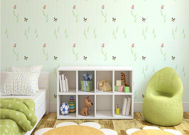 Nichtgewebter umweltfreundlicher Kinderschlafzimmer-Tapeten-Schmetterling und Grünpflanze-Muster
