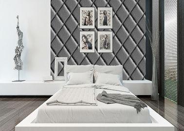Diamant-Muster-hohe Lederimitat-Tapete, modernes Raum-Tapete PVC-Material