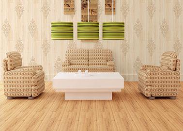Natürliche Art-moderne entfernbare Tapete, hölzerne Tapete des Damast-Musters mit Schaumoberfläche-Behandlung