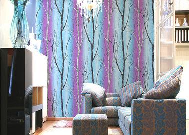 Baum-Druckraum-Dekorations-zeitgenössische gestreifte Tapete mit PVC-Material