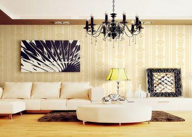 Romantische Individualitäts-natürliche Betriebsfaser-viktorianische Damast-Tapete für Sofa-Hintergrund
