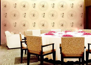 Chinese-Arbeits-und Muster-Raum-Dekorations-asiatische angespornte Tapete mit PVC-Material für Hotel