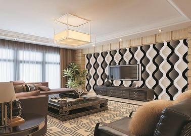 Moderne entfernbare Tapete Kurven-Wohnzimmer-Schlafzimmer PVCs für Fernsehhintergrund