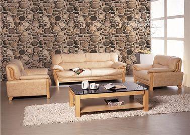 Wohnzimmer-Steintapete des gestrichenen Papiers PVCs rustikale Vinylschalldämpfend