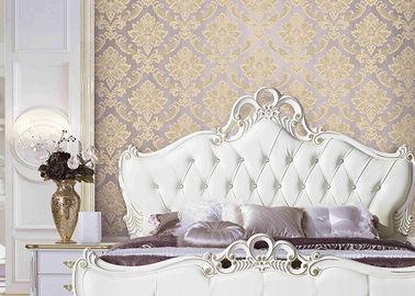 Effekt-Wandverkleidung der klassischer Damast-europäische Art-Tapeten-3D für Bett/Wohnzimmer