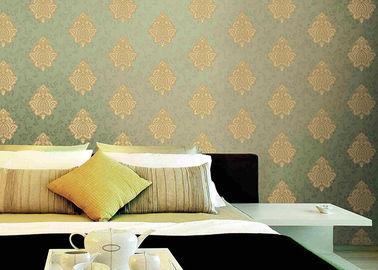 Klassische Tapeten-europäische Art-Wandverkleidung Damast-Muster PVCs waschbare Vinyl