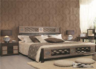 Fulll Collor klebte Blumen-PVC-Wohnzimmer-Wandverkleidung nicht Tapete