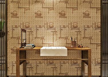 Spinnende Tee-Topf-Muster PVC-Raum-Dekorations-Bambustapete selbstklebend