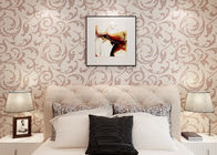 Elegant Non - woven Modern Removable Wallpaper  / Leaf Pattern Wallpaper