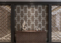 Eco - friendly Waterproof Living Room Wallpaper , Embossed Vinyl Wallpaper