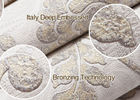0.53*10M Vinyl Embossed Floral Pattern Wallpaper , Rustic Country Wallpaper