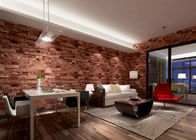 Removable 3D Brick Effect Wallpaper , Living Room Wall Covering with 0.53*10M size