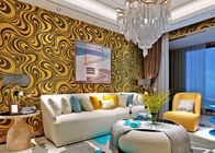 0.7*8.4m Modern Strippable Non Woven Wallpaper With Bronzing Color