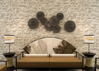 0.53*10m Mould Proof 3D Brick Effect Wall Coverings For TV Background , Stone Pattern