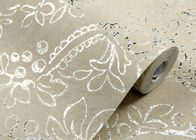 European Retro Vintage Wallpaper Non woven with Elegant Floral and Bronzing Treatment
