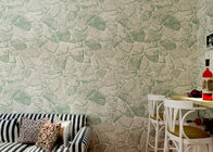 Gray Removable Self Adhesive Wallpaper / Stone Effect Wallpaper with Embossed Surface