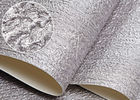 Luxury Embossed Washable Vinyl Removable Wallpaper For TV Background / Living Room