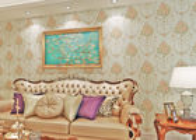China Entfernbare feuchtigkeitsfeste Landhausstil-Tapete für Hintergrund des Schlafzimmer-/Fernsehen Firma