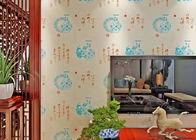 China Chinesische Art-Weinlese spornte Tapeten-/feuchtigkeitsbeständige Tapeten-hohe Qualität an Firma