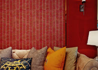 0.53*10m Sound proof Living Room Wallpaper with Stirpped Pattern , CSA SGS Standard