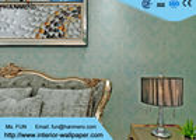 China 1.06*10m Wasser-Beweis-Wohnzimmer-Tapete/Innenverzierungstapete, grüne Farbe usine