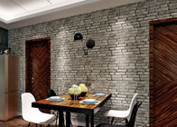 3D Brick Effect Washable Vinyl Wallpaper For House Decoration , 0.53*10M size