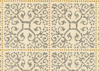 High Range Beige Bronzing Contemporary Bedroom Wallpaper Non Woven Wallcovering