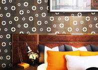 Copper Pattern PVC Contemporary Black Wallpaper For Living Room Walls , CSA Approved