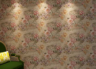 Study Room 3D Home Wallpaper House Decor / Floral Vintage Style Wallpapers , Coffee Color