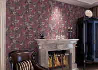 Waterproof Vintage Floral Pattern Wallpaper With Embossed Surface Treatment , OEM Accepted