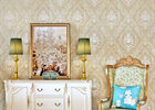 Leaf Flowers Pattern  Home Wallpaper For House Walls / Pretty Vintage Wallpapers