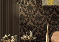 Schalldichte starke Samt-Damast-mit Blumentapete, nicht gesponnene Wallcovering-Europäer-Art