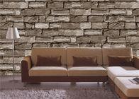 Effekttapete Browns 3d für Wände, Stein-Effekttapete der Lobby 3d