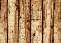 Wood Pattern American Natural Style 3D Home Wallpaper PVC For Living Room