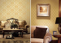 Brown Concise Damask Vinyl Removable Wallpaper Home Decoration Wall Covering
