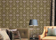 European Damask Printing Embossed Washable Vinyl Wallpaper 0.53*9.5M
