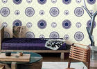 Blue And White Porcelain Room Decoration Asian Inspired Wallpaper / Wall Coverings